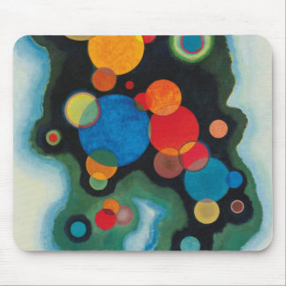 Kandinsky Deepened Impulse Abstract Oil on Canvas Mouse Pad