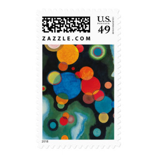 Kandinsky Deepened Impulse Abstract Oil on Canvas Postage