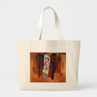 Kandinsky Development in Brown Abstract Painting Large Tote Bag