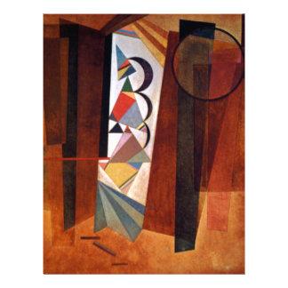Kandinsky Development in Brown Abstract Painting Letterhead