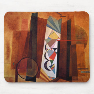 Kandinsky Development in Brown Abstract Painting Mouse Pad
