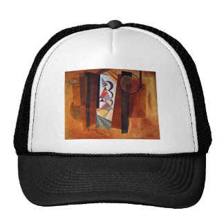 Kandinsky Development in Brown Abstract Painting Trucker Hat