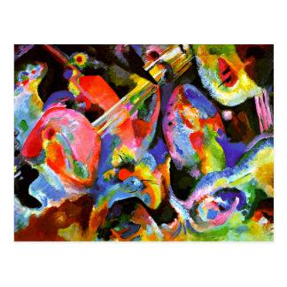 Kandinsky - diluvio de la improvisación postales