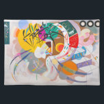 """Kandinsky Dominant Curve Placemat<br><div class=""""desc"""">Kandinsky Dominant Curve placemat. Oil painting on canvas from 1936. One of Wassily Kandinsky's most famous paintings, Dominant Curve is a brilliant example of the artist's abstract genius. Featuring bright yellows, oranges, greens and blues along with sharp black angles and curves, Dominant Curve makes a great gift for fans of...</div>"""