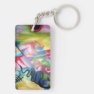 Kandinsky Double-Sided Rectangular Acrylic Keychain