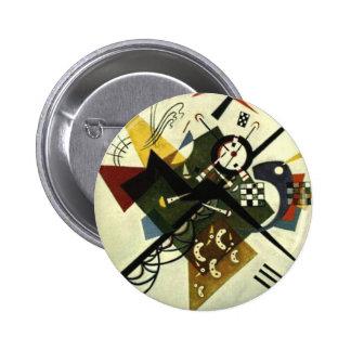 Kandinsky en el blanco II Pin Redondo De 2 Pulgadas
