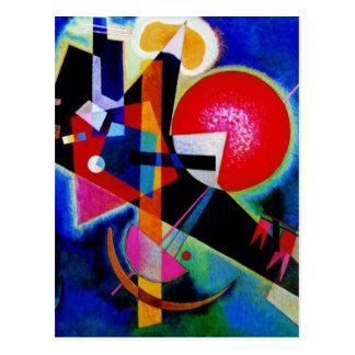 Kandinsky en la pintura abstracta azul postal