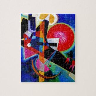 Kandinsky en la pintura abstracta azul rompecabezas con fotos