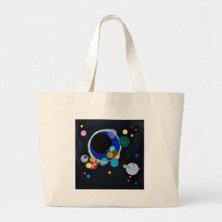 Kandinsky extracto de varios círculos bolsa de tela grande