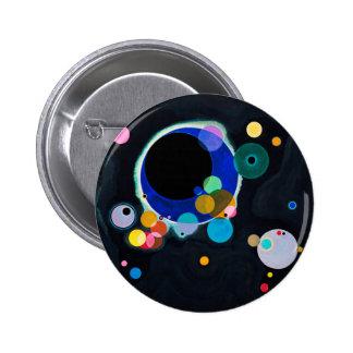 Kandinsky extracto de varios círculos pin redondo 5 cm
