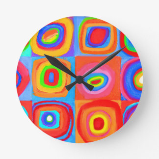 Kandinsky Homage Farbstudie Wall Clock