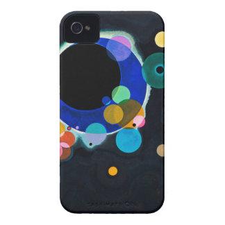 Kandinsky ilustraciones de varios círculos carcasa para iPhone 4 de Case-Mate