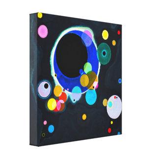 Kandinsky impresión de la lona de varios círculos