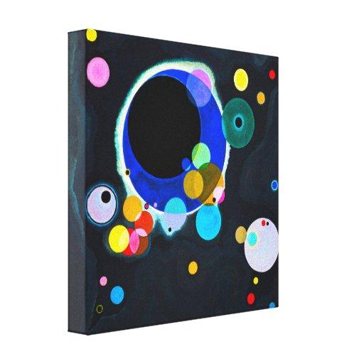Kandinsky impresión de la lona de varios círculos lienzo envuelto para galerías
