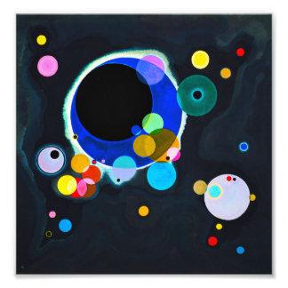 Kandinsky impresión de varios círculos fotografias