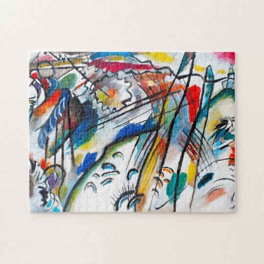 Kandinsky improvisation 28 puzzle zazzle for Puzzle kandinsky