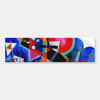 Kandinsky in Blue Abstract Painting Car Bumper Sticker