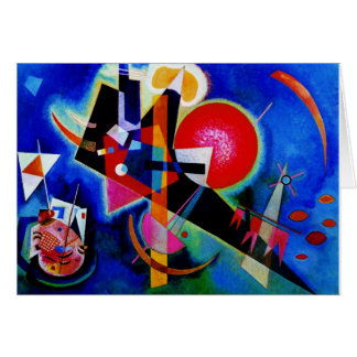 Kandinsky in Blue Abstract Painting Card