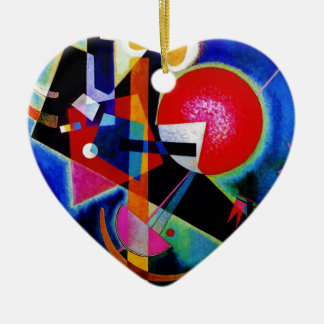 Kandinsky in Blue Abstract Painting Ceramic Ornament