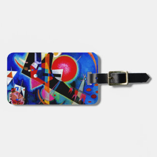 Kandinsky in Blue Abstract Painting Luggage Tags
