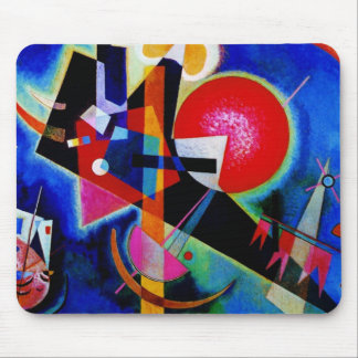 Kandinsky in Blue Abstract Painting Mouse Pad