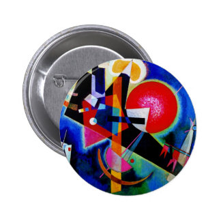 Kandinsky in Blue Abstract Painting Pinback Button