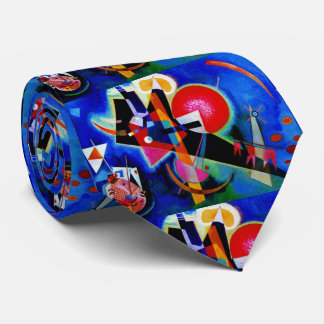 Kandinsky in Blue Abstract Painting Tie