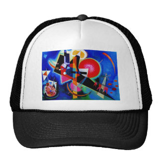 Kandinsky in Blue Abstract Painting Trucker Hat