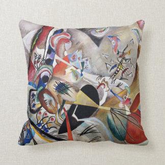 Kandinsky In Gray Throw Pillow
