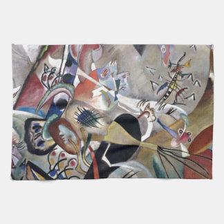 Kandinsky In Grey Abstract Artwork Kitchen Towel
