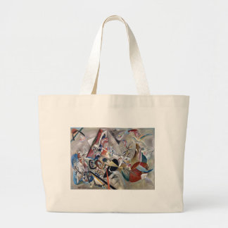 Kandinsky In Grey Abstract Artwork Large Tote Bag