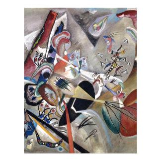Kandinsky In Grey Abstract Artwork Letterhead