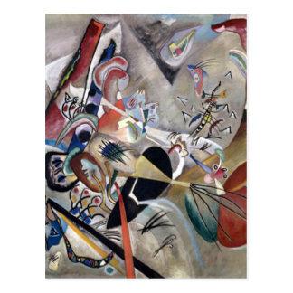 Kandinsky In Grey Abstract Artwork Postcard