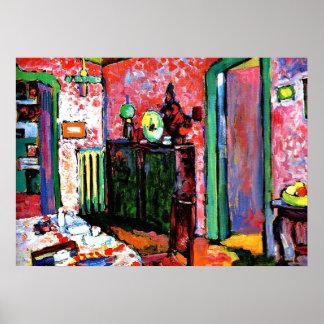 Kandinsky: Interior, mi comedor, 1909 Póster