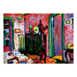 Kandinsky: Interior, My Dining Room, 1909 Posters