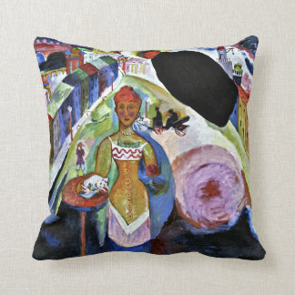 Kandinsky - Lady in Moscow Throw Pillow