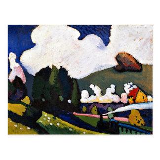 Kandinsky - Landscape near Murnau with Locomotive Postcard