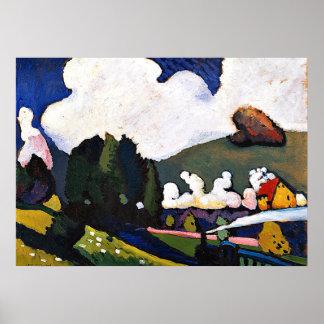 Kandinsky - Landscape near Murnau with Locomotive Poster