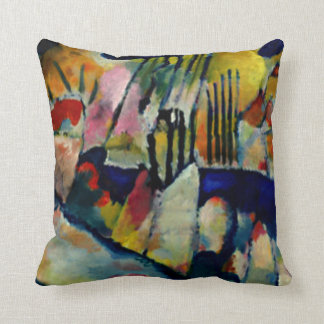 Kandinsky - Landscape with Rain Throw Pillow