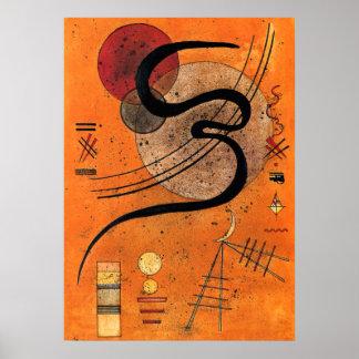 Kandinsky - línea del humor póster