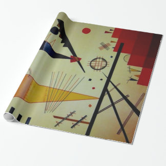 Kandinsky Merry Structure Abstract Artwork Wrapping Paper