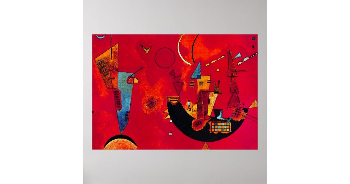 kandinsky mit und gegen abstract painting poster zazzle. Black Bedroom Furniture Sets. Home Design Ideas
