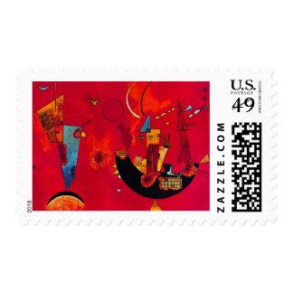 Kandinsky Mit und Gegen Painting Stamp