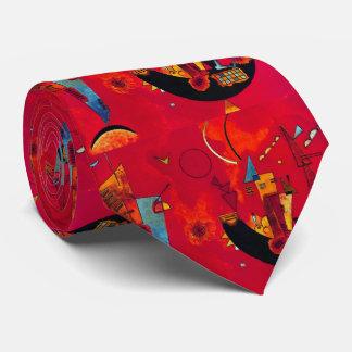 Kandinsky Mit und Gegen Red Abstract Tie