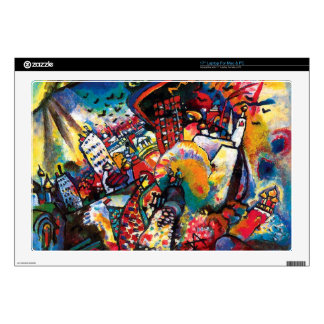 "Kandinsky Moscow Cityscape Abstract 17"" Laptop Decal"