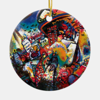 Kandinsky Moscow Cityscape Abstract Ceramic Ornament