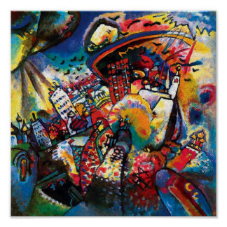 Kandinsky Moscow Cityscape Abstract Poster