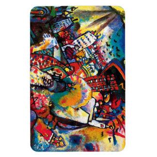 Kandinsky Moscow Cityscape Abstract Rectangular Photo Magnet