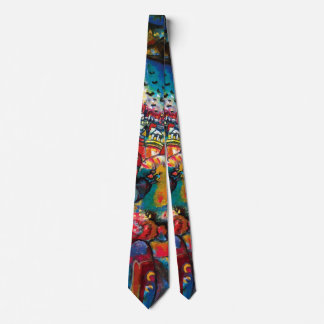 Kandinsky Moscow Cityscape Abstract Tie