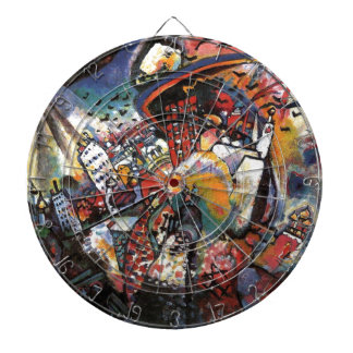 Kandinsky Moscow I Cityscape Abstract Painting Dart Boards